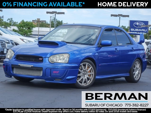 pre owned 2004 subaru impreza wrx sti 4d sedan for sale in niles ps3490a star nissan star nissan